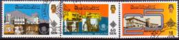 BRUNEI 1990 SG 468-70 Compl.set Used Brunei Museum - Brunei (1984-...)