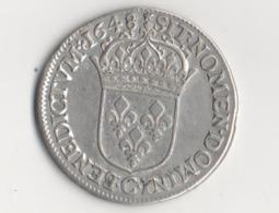 DEMI ECU LOUIS XIV 1648 C - 987-1789 Monnaies Royales