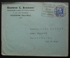 Riquewihr (Haut Rhin) 1952 Gustave C. Bronner Propriétaire Viticulteur Avec Daguin Vins Réputés - Poststempel (Briefe)