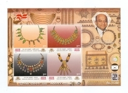 10 Pieces Of India Miniature Sheet 2000 - Gems And Jewellery, MNH - India