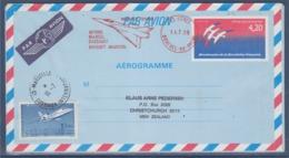 = Aérogramme 1017-AER Bicentenaire De La Révolution Dassault Istres 14.7.89 Complément Affranchissem 2372 Marseille 16.7 - Airmail Stationery