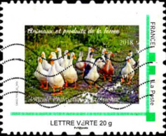 France IDCol Obl Yv: 89 Mi: Animaux Et Produits De La Ferme (Lign.Ondulées) - Personalized Stamps (MonTimbraMoi)