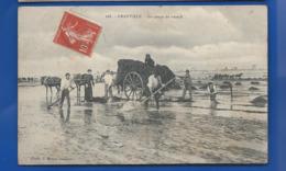 GRANVILLE   La Coupe Du Varech   Attelage       écrite En 1907 - Granville