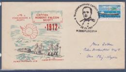 = 75è ,Commémoration Capitan Robert Falcon SCott 1912, Ploiesti 29.3.1987, Roumanie - Events & Commemorations
