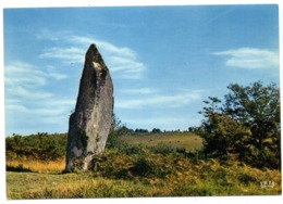 CPSM    87         CIRCUIT DES MONTS DE BLOND       MENHIR DE CINTURAT - Dolmen & Menhirs