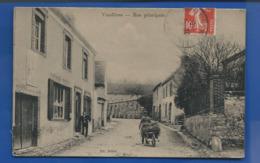 VAUDIERES   Rue Principale    Animées       écrite En 1910    Pliure Au Centre - Sonstige Gemeinden