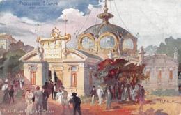 Milano - MI, Esposizione Del 1906, Padiglione Della Stampa, Cromo, Scritta - Milano (Milan)