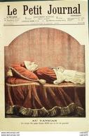 LE PETIT JOURNAL-1903-663-VATICAN MORT PAPE LEON XIII-CHAPELLE ST SACREMENT - Newspapers