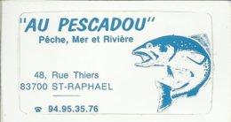 """Autocollant - """"Au Pescadou"""" Pêche, Mer Et Rivière - 48, Rue Thiers - 83700 St Raphaël - Stickers"""