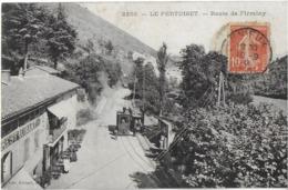 UNIEUX 42 LOIRE 2250 LE PERTUISET  ROUTE DE FIRMINY EDIT. GIROUD TRAIN EN PETIT PLAN - Other Municipalities