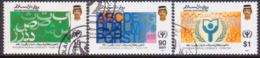 BRUNEI 1990 SG 471-73 Compl.set Used Int.Literacy Year - Brunei (1984-...)