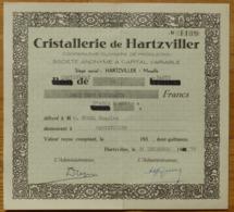 Cristallerie De Hartzviller - Coopérative Ouvrière De Production 1975 - Shareholdings