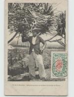 ILE DE LA REUNION ... Indigène Portant Un Fardeau De Feuilles De Vacoa (Cliché Luda) Carte Circulée Timbrée En 1908 - Other