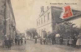 CPA - Fontanès - Mairie Et Ecole - Otros Municipios