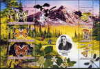 TIMIRIAZEV KLIMENT  - DARWINISTE  - PAPILLONS ET CHAMPIGNONS  - FEUILLET  6 V NEUF**- CLGPL1210-1 - Butterflies