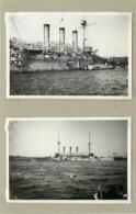 BREST -convois Américains,bateaux De Guerre (photos En 1918, Format 8,2cm X 5,6cm) - Barche