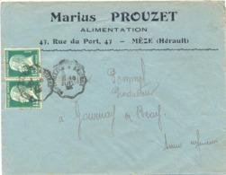 MARIUS PROUZET ALIMENTATION MÈZE HÉRAULT - TàD CONVOYEUR MONTPELLIER A BEZIERS 18 JUIL 25 - 1921-1960: Modern Tijdperk