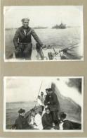 BREST - école Navale,bateaux De Guerre (photos En 1918, Format 8,2cm X 5,6cm) - Barcos
