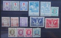 BELGIE  1925-27     Nr. 234 - 236 / 237 - 239 / 240 - 244 En 245 - 246    Scharnier *      CW  21,00 - Neufs