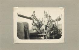 """BREST - école Navale,bateau De Guerre """"le Sans Soucis"""" (photo En 1919, Format 9cm X 6,5cm) - Boten"""