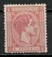 Porto Rico - Puerto Rico - Espagne Timbre Télégraphe  1876 Y&T N°TT13 - Michel N°T11 Nsg - 4p Alphonse XII - Puerto Rico