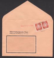 Fluor Post Straßberg über Gernrode, DDR Dienstpost-Brief 3(2) OSt. 8 Pfg. Im Paar, Geschäftspapiere, Flußspatgrube - [6] Oost-Duitsland