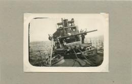 """BREST - école Navale,bateau De Guerre """"le Sans Soucis"""" (photo En 1919, Format 9cm X 6,3cm) - Boats"""