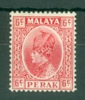Malaya - Perak: 1935/37   Sultan Iskandar   SG92    6c     MH - Perak