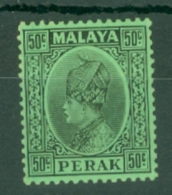 Malaya - Perak: 1935/37   Sultan Iskandar   SG99    50c     MH - Perak