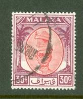 Malaya - Perak: 1950/56   Sultan Yussuf 'Izzuddin Shah   SG142   30c     Used - Perak