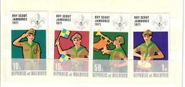 MALDIVE 1972 - BOY SCOUT JAMBOREE 1971 - SERIE COMPLETA - MNH ** - Maldive (1965-...)