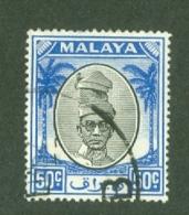 Malaya - Perak: 1950/56   Sultan Yussuf 'Izzuddin Shah   SG145   50c     Used - Perak