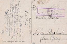 CP Obl Deutsche Feldpost / * * * Du 2.3.18 Avec Cachet 4. (F.) Bttr. F.A.R.302 Adressée à Nieder Bexbach - Marcofilie (Brieven)