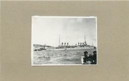 BREST - école Navale,bateau De Guerre ,croiseur Jeanne D'Arc (photo En 1919, Format 7,2cm X 5,5cm) - Barche