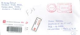 Recommandé De Kizilay - 3 (015378) Vers La Belgique Du 25/01/2005 - Storia Postale