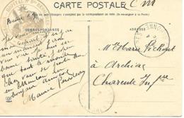 31-cachet Hôpital N°6 Bis De Bessières Sur Belle CP De L'Harmonie En 1915-cachet Rare - Marcophilie (Lettres)