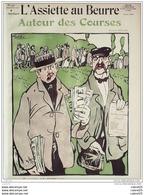 L'ASSIETTE AU BEURRE-1910-495-AUTOUR Des COURSES...EDOUARD BERNARD - Books, Magazines, Comics