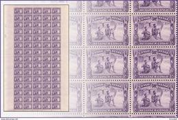 Congo 0173** 50c Violet - Feuille / Sheet De 75 -MNH- - Feuilles Complètes