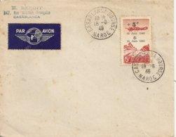 Lettre  Poste Aerienne Depart  Casablanca 1948 - Morocco (1956-...)