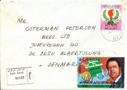 Libya Registered Cover Sent To Denmark 6-12-1986 - Libya
