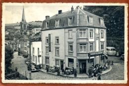 Belgique   CP  BOUILLON-SUR-SEMOIS  Hôtel Du Château-Fort  Joli Plan Animé, Bus, Voiture  Très Bon état - Bouillon