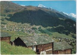 Verbier, Vue Sur Le Village, La Station, Les Ruinettes - VS Valais