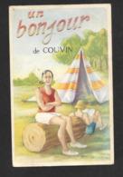 Un Bonjour De Couvin / Namur CPSM Belgique - ATTENTION BIEN LIRE DESCRIPTIF : Dos Taché - Couvin