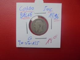 CONGO BELGE 50 CENTIMES 1896 ARGENT (A.10) - 1885-1909: Leopold II.