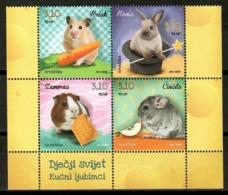 Croatia 2014 Croacia / Mammals Rodents Rabbit Hamster MNH Mamiferos Roedores Säugetiere / Cu14632  36-3 - Roedores