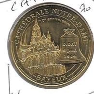 Jeton Touristique 14 Bayeux Cathedrale 2014 70 Ans - 2014