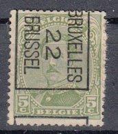"BELGIË - PREO - 1922 - Nr 60-II B (Kantdruk) - BRUXELLES ""22"" BRUSSEL - (*) - Préoblitérés"