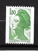 "France ""Liberté N°2378** (1,80 Vert Roulette) - France"