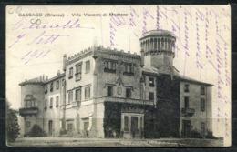 CARTOLINA - Z1733 CASSAGO (Lecco LC) Villa Visconti Di Modrone, FP, Viaggiata 1918 Per Viareggio, Ottime Condizioni (GC) - Lecco