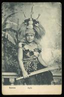 Postcard - SAMOA Oceania - Apia  - Female Chief - C.1907 - Samoa Americana